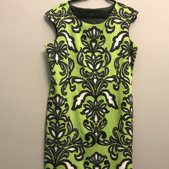 I LE Dress - Green, Black, And White Size 18